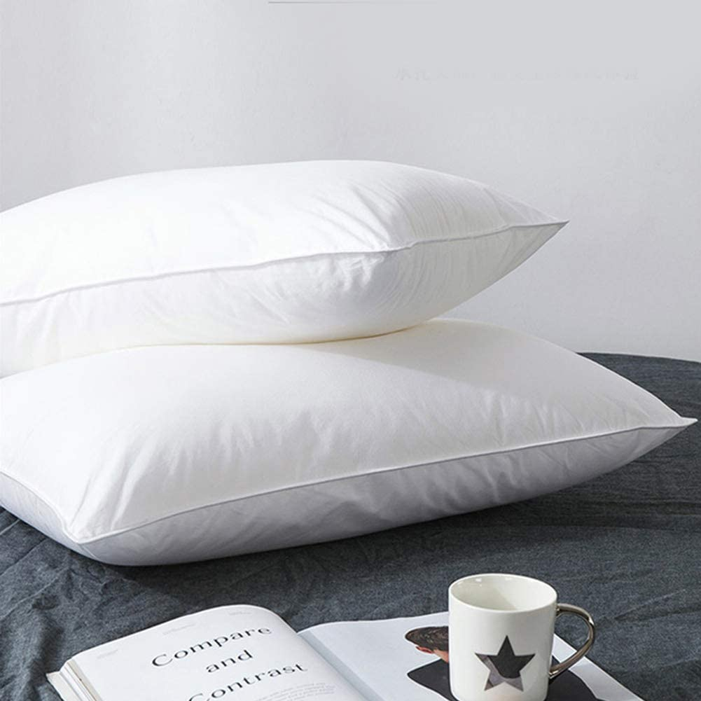 Hombys - Goose Feather and Down Soft Bed Pillow