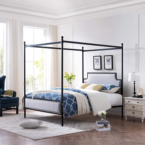 Christopher Knight Home - Asa Iron Canopy Bed Frame
