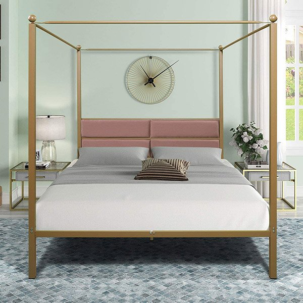 lambery - Canopy Metal Bed Frame