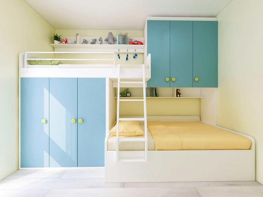 colorful loft bed